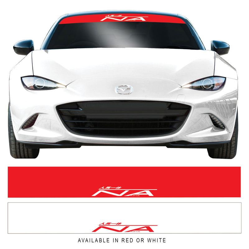 Mazda Mx5 Mk1 Na JDM Sunstrip Windscreen Banner Sticker