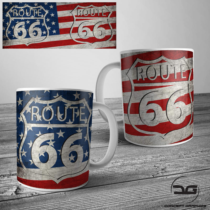 Route 66 USA Road Trip Funny Novelty Coffee Mug/Cup
