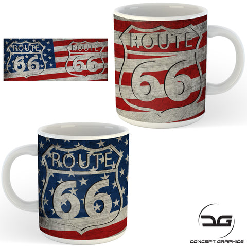 Route 66 USA Road Trip Funny Coffee Mug/Cup