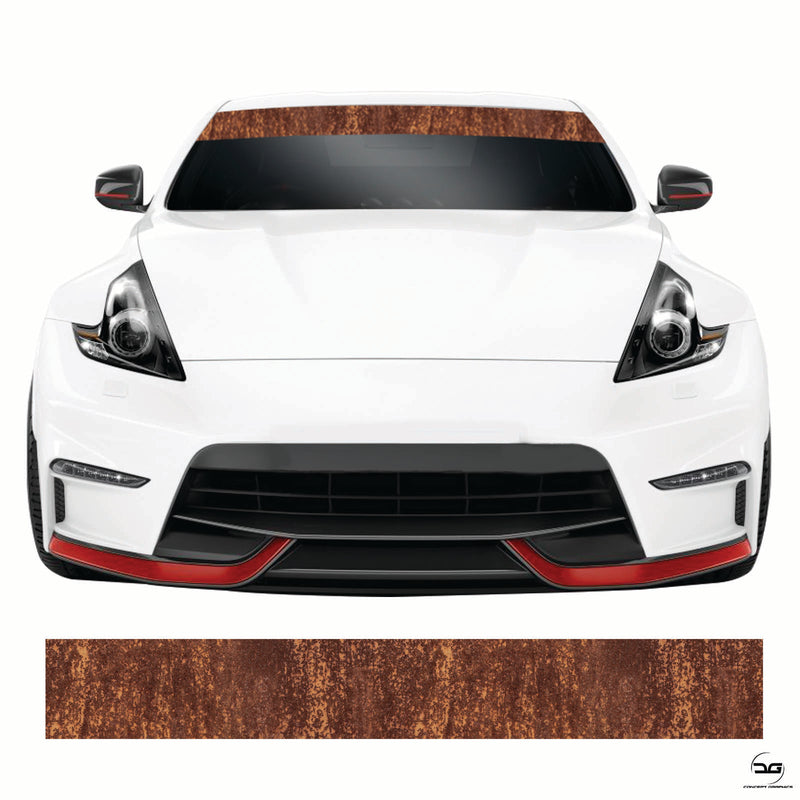 Rust Effect Rat Look Universal Car Windscreen Sunstrip Banner Sticker