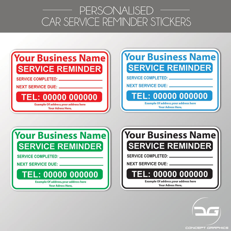 Personalised Mechanics Service Reminder Garage Label Stickers