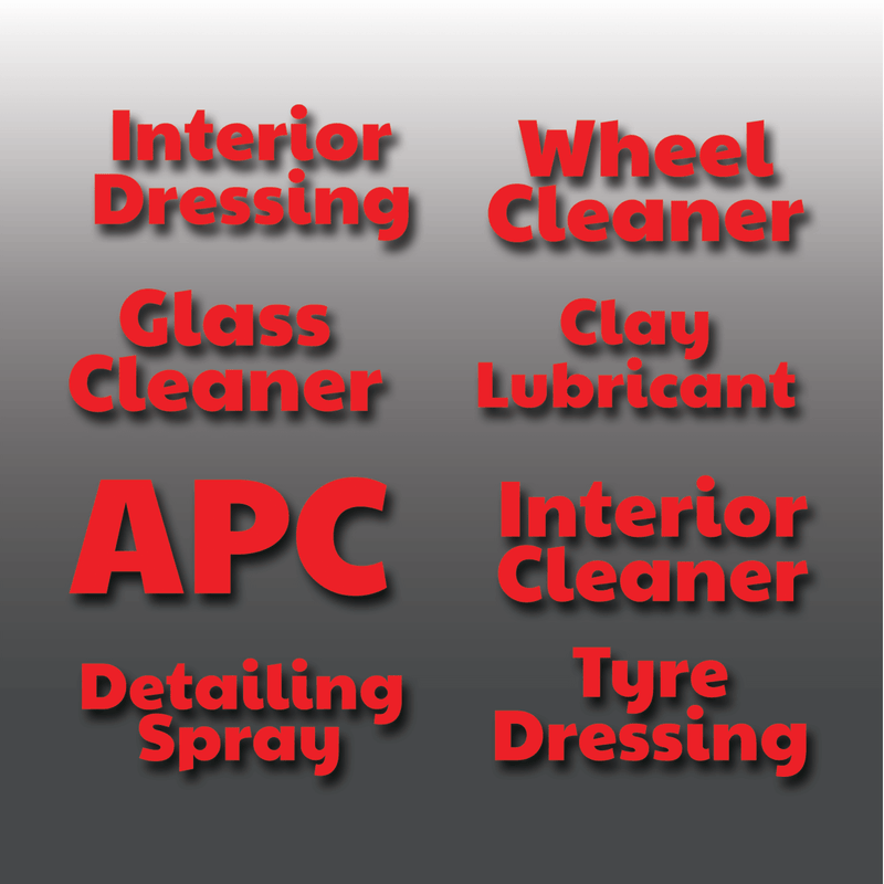 Car Detailing Spray Bottle Vinyl Sticker Labels
