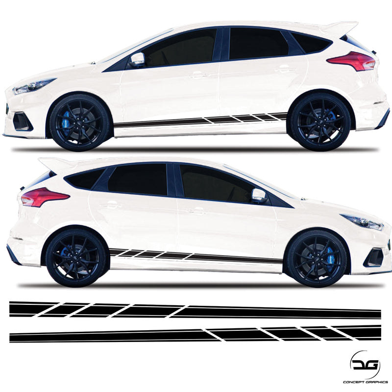 Ford Focus Mk3/3.5 Lower Side Stripes Slash Cut