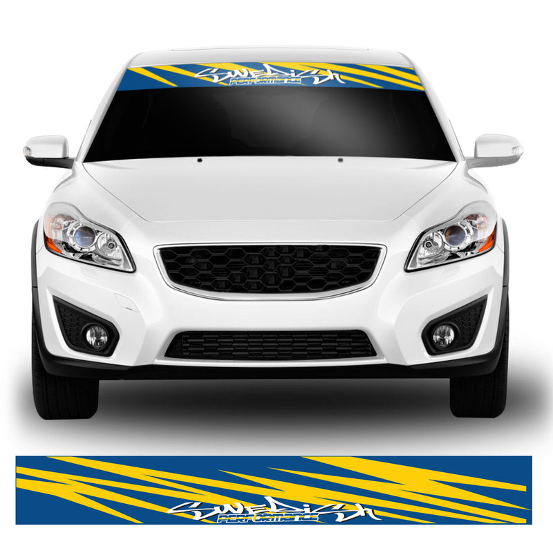 Swedish Performance Flag Car Windscreen Sunstrip Vinyl Decal Sticker Banner