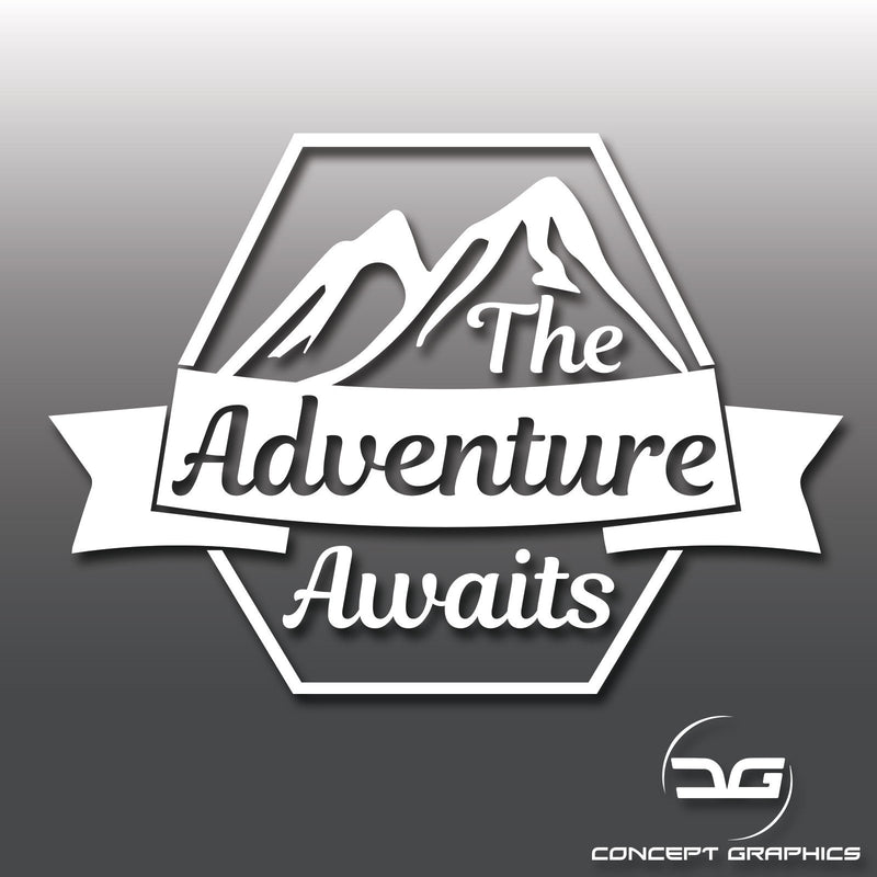 The Adventure Awaits Vinyl Decal Sticker