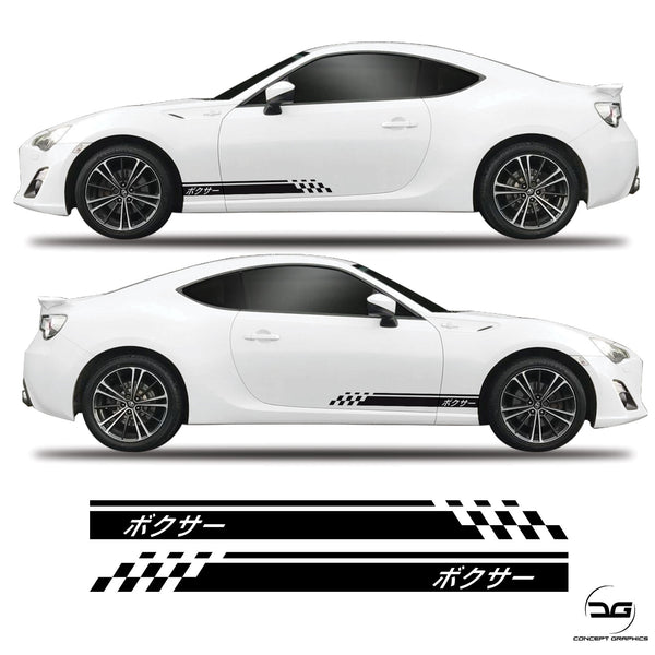 Boxer Side Stripe Decal Toyota Gt86 Subaru BRZ