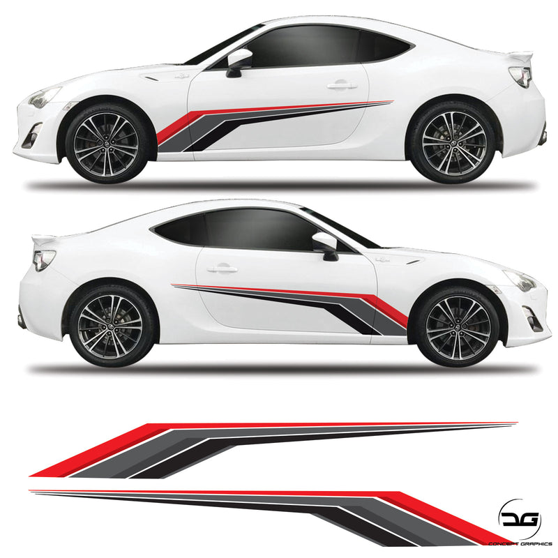 Racing Side Graphics Toyota GT86 Subaru BRZ