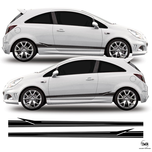 Vauxhall Corsa D VXR Side Strips Kit