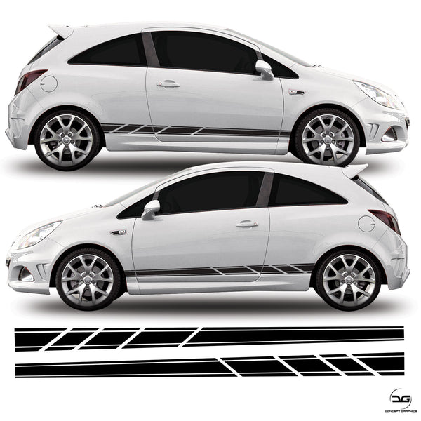 Vauxhall Corsa D VXR Side Decal Stickers