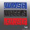 3D Effect Car Detailing Wash, Rinse & Wheels Vinyl Bucket Stickers