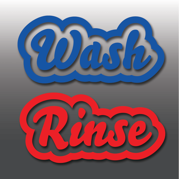 Car Detailing Wash & Rinse Vinyl Bucket Stickers