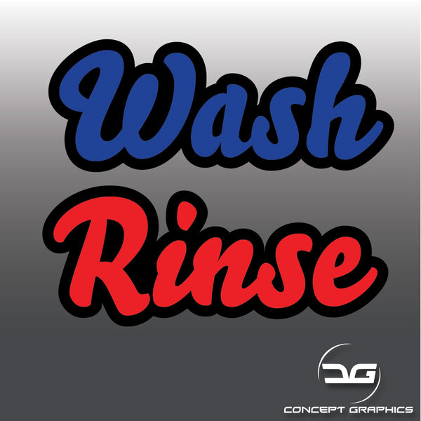 Car Detailing Two Colour Wash & Rinse Vinyl Bucket Decals