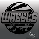 Large Japanese Themed Car Detailing Wheels Vinyl Bucket Sticker