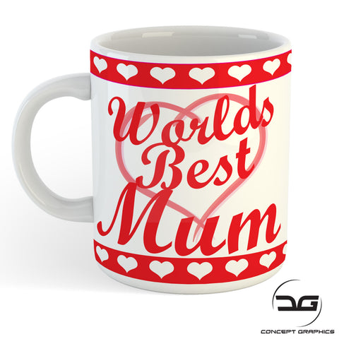 Worlds Best Mum Mothers Day/Birthday Gift Mug