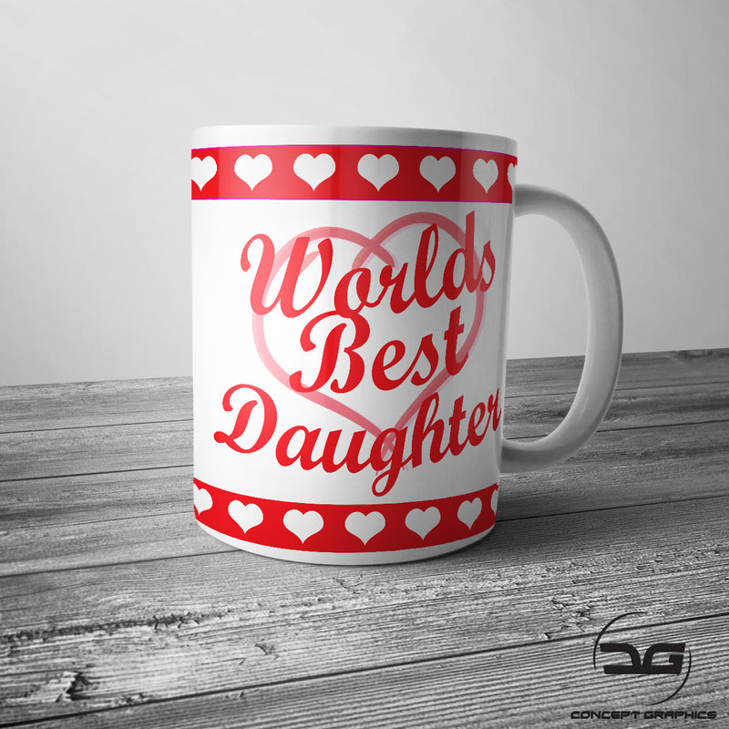 Worlds Best Daughter Christmas/Birthday Coffee Cup/Mug