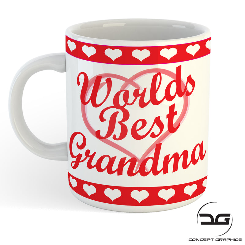 Worlds Best Grandma Birthday/Christmas Gift Mug Cup