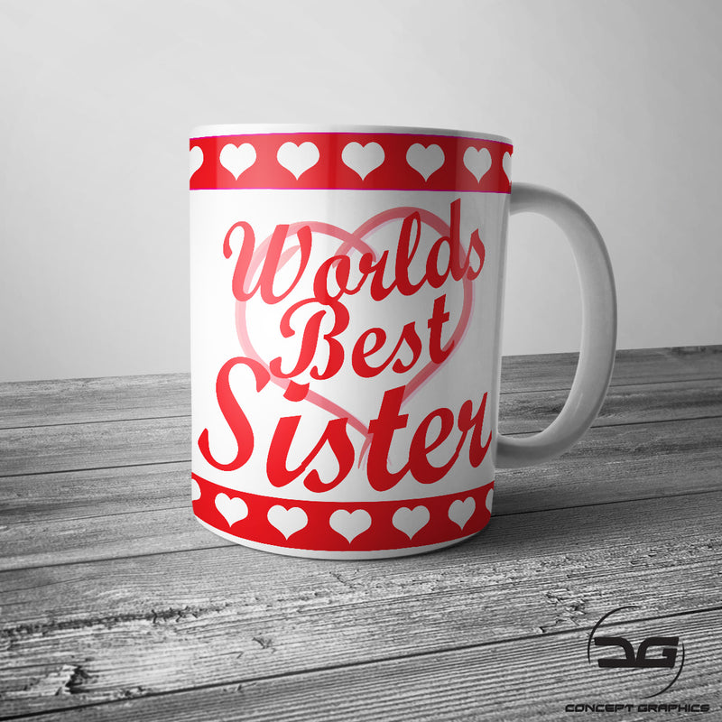 Worlds Best Sister Sibling Birthday Gift Mug Present
