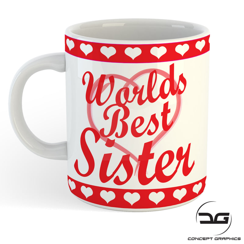 Worlds Best Sister Sibling Birthday Gift Mug