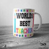 Worlds Best Teacher End Of Term Leaving Gift Coffee Cup Mug