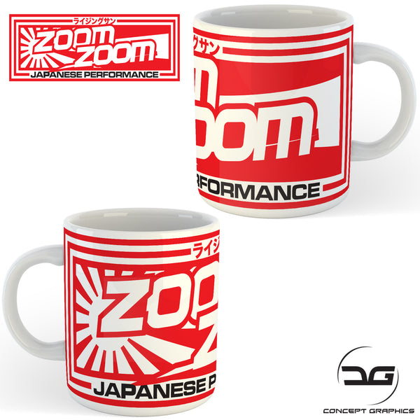 JDM Japanese Performance Zoom Zoom Car Coffee Mug/Cup