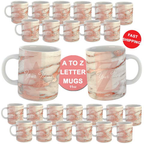 Personalised Marble Effect Custom Name Coffee Mug Cup