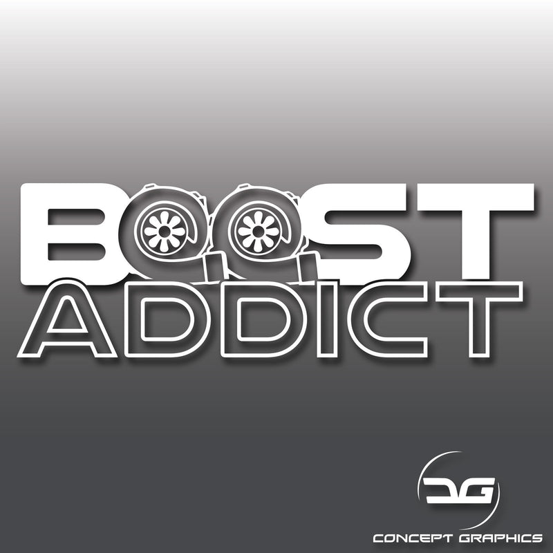 Boost Addict Twin Turbo Vinyl Decal Sticker