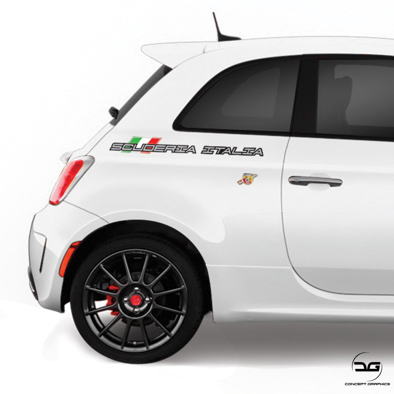 Scuderia Italia Italian Flag Side Vinyl Decal Sticker Graphics for Fiat 500 595 695 Abarth