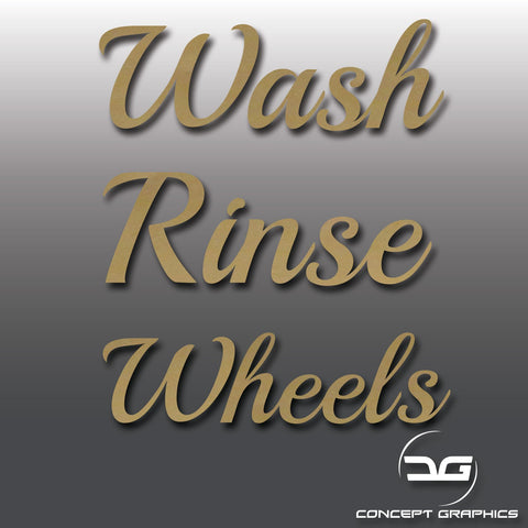 Car Valeting Wash, Rinse & Wheels Vinyl Bucket Stickers