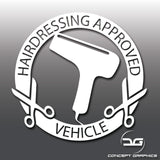 Hairdressing Approved Vehicle Vinyl Decal Sticker
