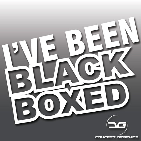I've Been Black Boxed Funny Car Vinyl Decal Sticker
