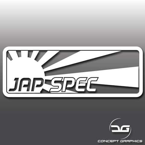Jap Spec JDM Japanese Car Vinyl Decal Sticker
