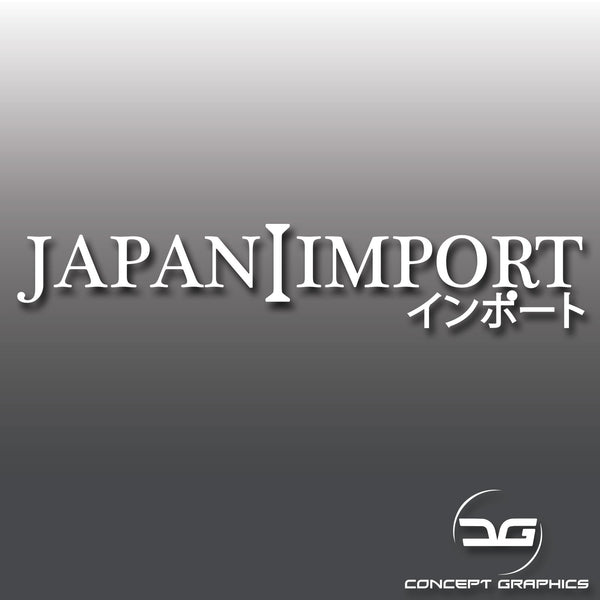 Japan Import JDM Car Vinyl Decal Sticker