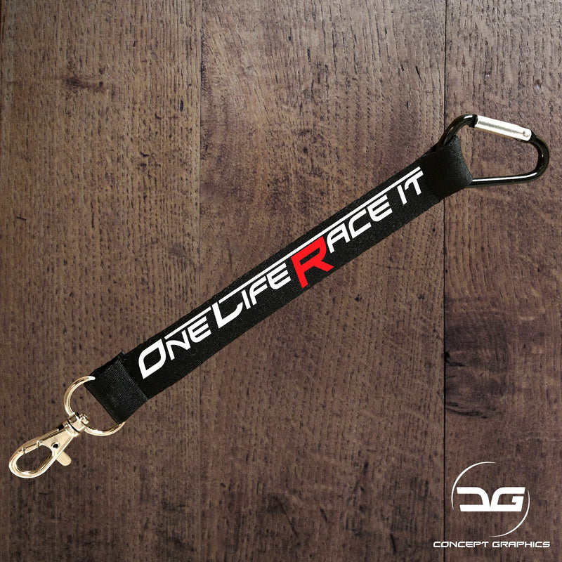One Life Race It Mini Lanyard Keyring