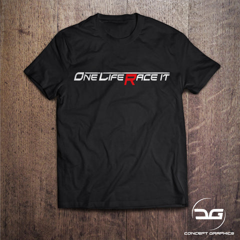 One Life Race It Novelty Car T-Shirt