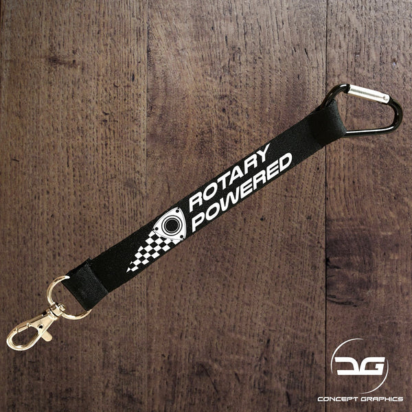 Rotary Powered Mini Lanyard Keyring