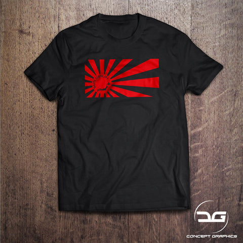 JDM Apparel Rising Sun Origin Flag Japanese T-Shirt