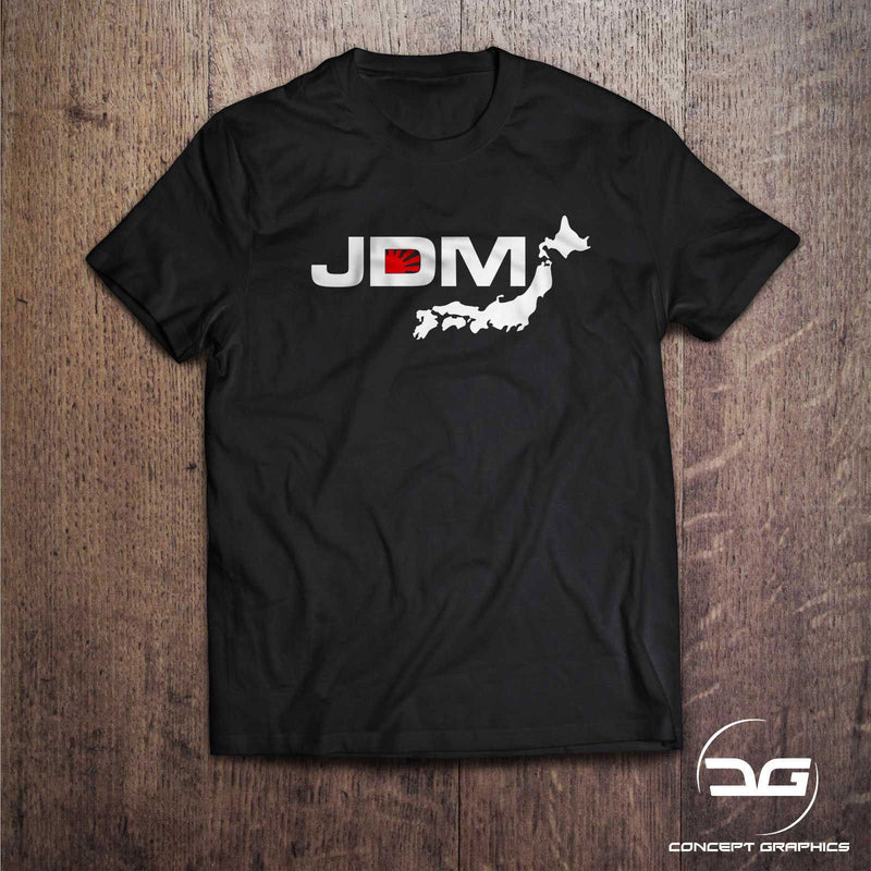 JDM Japanese Rising Sun Map T-Shirt