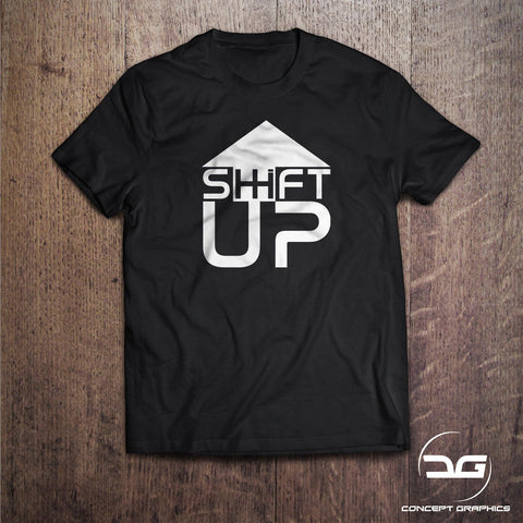 Shift Up Novelty Car Scene T-Shirt