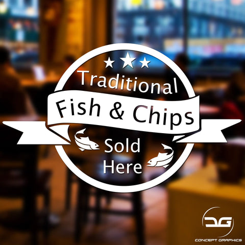 Fish & Chips Sold Here Takeaway Business Advertising Sign