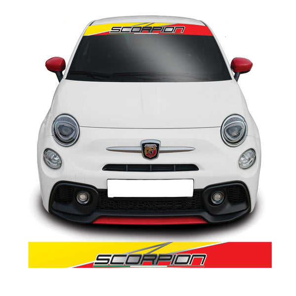 Fiat 500 Scorpion Stripe Windscreen Sunstrip Banner Vinyl Decal Sticker Sticker