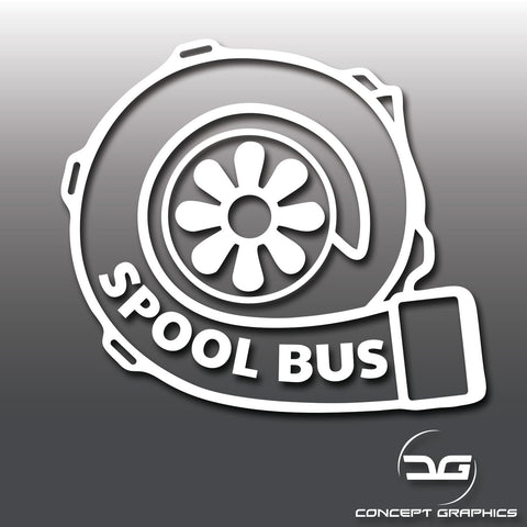 Turbo Spool Bus Funny Sticker
