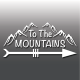 To The Mountains Hiking Laptop Car Vinyl Decal Sticker