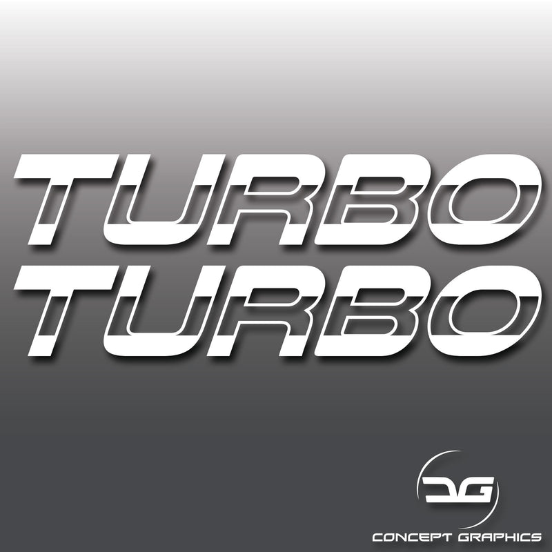 2x Turbo Half Cut Vinyl Decal Stickers