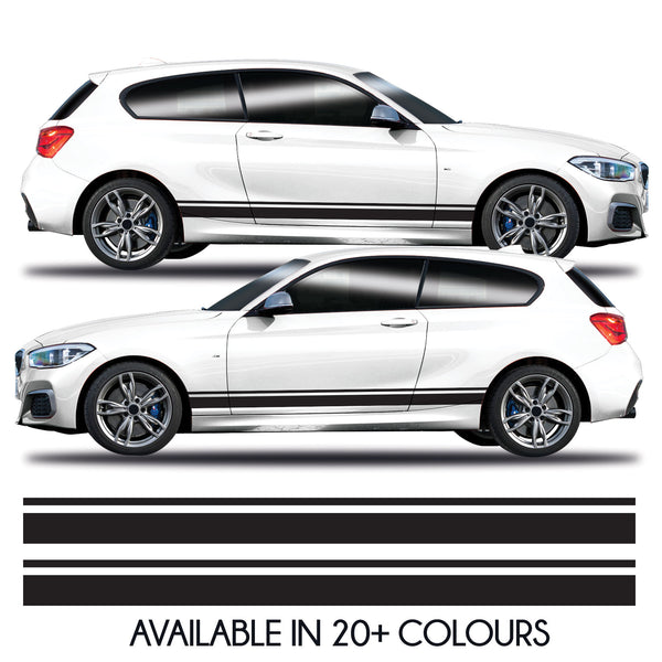 2x Universal Car Side Stripe Vinyl Decal Sticker Graphics Kit