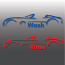 Car Outline Wash & Rinse Vinyl Bucket Stickers