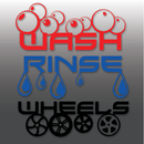 Bespoke Car Detailing Wash, Rinse & Wheels Vinyl Bucket Decals