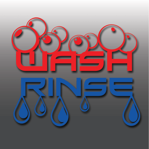 Bespoke Car Detailing Wash & Rinse Vinyl Bucket Decals