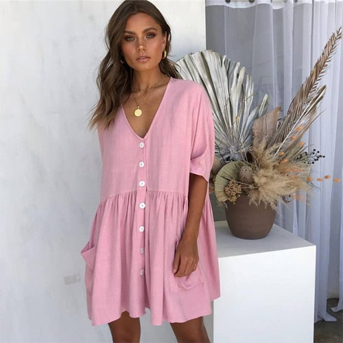 DESTYNE SUMMER DRESS - PINK