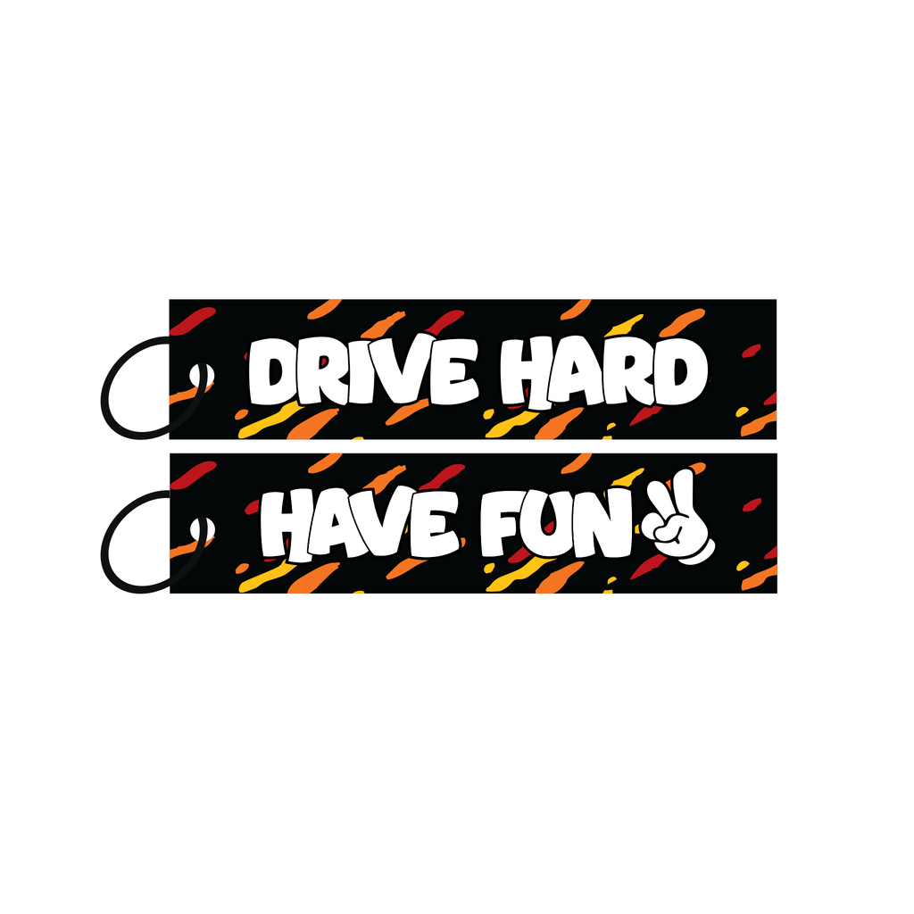 Drive Hard Have Fun Jet Tag
