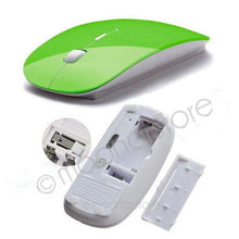 Ultra Thin Optical Wireless Cordless Mouse 2.4G Receiver